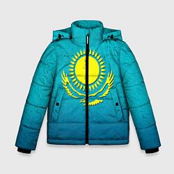 Куртка зимняя для мальчика Флаг Казахстана цвета 3D-черный — фото 1