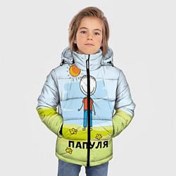 Куртка зимняя для мальчика Папуля цвета 3D-черный — фото 2