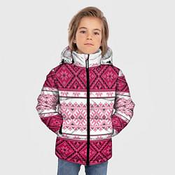 Куртка зимняя для мальчика Вышивка 34 цвета 3D-черный — фото 2
