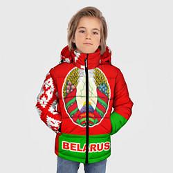 Куртка зимняя для мальчика Belarus Patriot цвета 3D-черный — фото 2