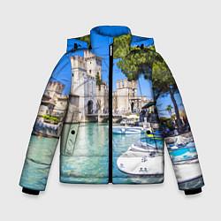 Куртка зимняя для мальчика Италия цвета 3D-черный — фото 1