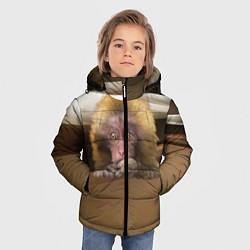 Детская зимняя куртка для мальчика с принтом Мартышка, цвет: 3D-черный, артикул: 10096243406063 — фото 2