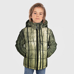 Куртка зимняя для мальчика Чарующий лес цвета 3D-черный — фото 2