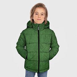 Куртка зимняя для мальчика Змеиная зеленая кожа - фото 2
