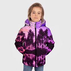 Детская зимняя куртка для мальчика с принтом Hawaii dream, цвет: 3D-черный, артикул: 10096437206063 — фото 2