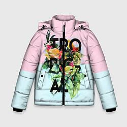 Детская зимняя куртка для мальчика с принтом Tropical Art, цвет: 3D-черный, артикул: 10096481906063 — фото 1