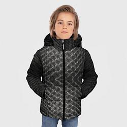 Куртка зимняя для мальчика Черная кожа цвета 3D-черный — фото 2