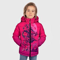 Куртка зимняя для мальчика We grab pizza later цвета 3D-черный — фото 2