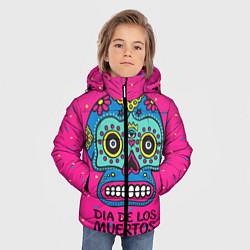 Куртка зимняя для мальчика Мексиканский череп цвета 3D-черный — фото 2
