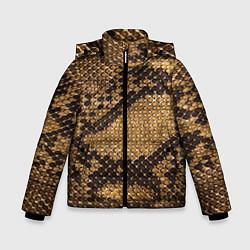 Куртка зимняя для мальчика Змеиная кожа цвета 3D-черный — фото 1