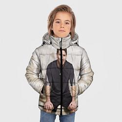 Детская зимняя куртка для мальчика с принтом Улыбчивый Месси, цвет: 3D-черный, артикул: 10099708706063 — фото 2