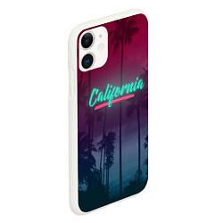 Чехол iPhone 11 матовый California цвета 3D-белый — фото 2
