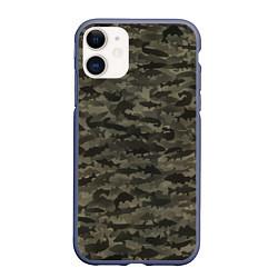 Чехол iPhone 11 матовый Камуфляж рыбака цвета 3D-серый — фото 1