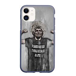 Чехол iPhone 11 матовый Нурмагомедов Хабиб цвета 3D-серый — фото 1