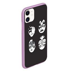 Чехол iPhone 11 матовый KISS Mask цвета 3D-сиреневый — фото 2