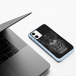 Чехол iPhone 11 матовый Wolves in the Throne Room цвета 3D-голубой — фото 2