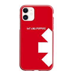 Чехол iPhone 11 матовый RHCP: Red Style цвета 3D-красный — фото 1