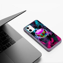 Чехол iPhone 11 матовый 6IX9INE 69 цвета 3D-серый — фото 2