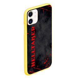 Чехол iPhone 11 матовый Helltaker Logo Z цвета 3D-желтый — фото 2