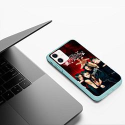 Чехол iPhone 11 матовый Bullet for my valentine цвета 3D-мятный — фото 2