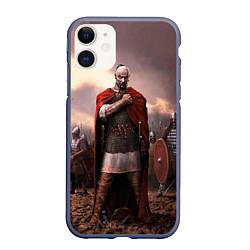 Чехол iPhone 11 матовый Князь Святослав Игоревич цвета 3D-серый — фото 1