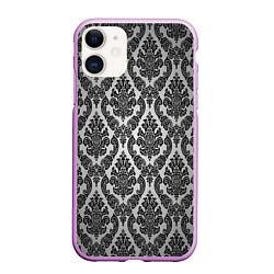 Чехол iPhone 11 матовый Гламурный узор цвета 3D-сиреневый — фото 1