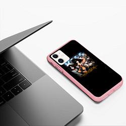 Чехол iPhone 11 матовый Kiss Monster цвета 3D-баблгам — фото 2