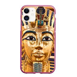 Чехол iPhone 11 матовый Фараон цвета 3D-малиновый — фото 1