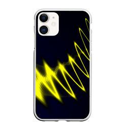 Чехол iPhone 11 матовый Молния цвета 3D-белый — фото 1