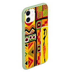 Чехол iPhone 11 матовый Африка цвета 3D-салатовый — фото 2