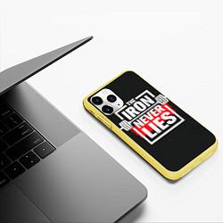 Чехол iPhone 11 Pro матовый The iron never lies цвета 3D-желтый — фото 2