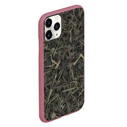 Чехол iPhone 11 Pro матовый Камуфляж с холодным оружием цвета 3D-малиновый — фото 2
