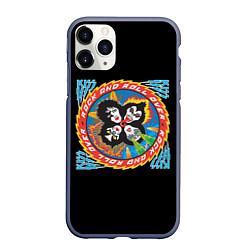 Чехол iPhone 11 Pro матовый KISS: Over цвета 3D-серый — фото 1