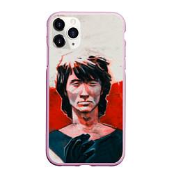 Чехол iPhone 11 Pro матовый Молодой Цой цвета 3D-розовый — фото 1