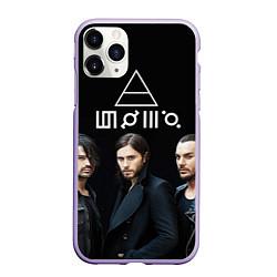 Чехол iPhone 11 Pro матовый 30 seconds to mars цвета 3D-светло-сиреневый — фото 1