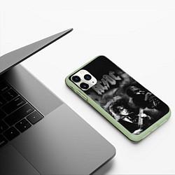 Чехол iPhone 11 Pro матовый AC/DC цвета 3D-салатовый — фото 2