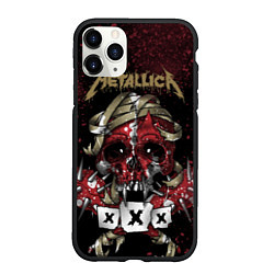 Чехол iPhone 11 Pro матовый Metallica: XXX цвета 3D-черный — фото 1