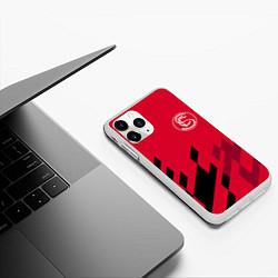 Чехол для iPhone 11 Pro матовый с принтом Sevilla FC, цвет: 3D-белый, артикул: 10065164605909 — фото 2