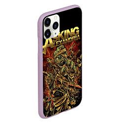 Чехол iPhone 11 Pro матовый Asking Alexandria цвета 3D-сиреневый — фото 2