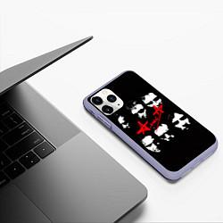 Чехол iPhone 11 Pro матовый Группа АлисА цвета 3D-светло-сиреневый — фото 2