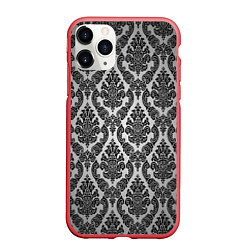 Чехол iPhone 11 Pro матовый Гламурный узор цвета 3D-красный — фото 1