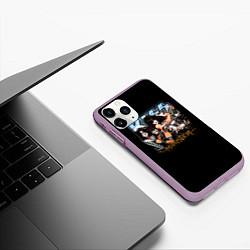 Чехол iPhone 11 Pro матовый Kiss Monster цвета 3D-сиреневый — фото 2