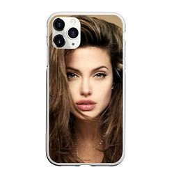 Чехол iPhone 11 Pro матовый Анжелина Джоли цвета 3D-белый — фото 1