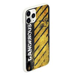 Чехол iPhone 11 Pro матовый DANGEROUS цвета 3D-белый — фото 2