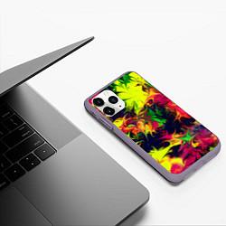 Чехол iPhone 11 Pro матовый Кислотный взрыв цвета 3D-серый — фото 2