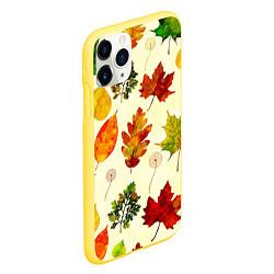 Чехол iPhone 11 Pro матовый Осень цвета 3D-желтый — фото 2