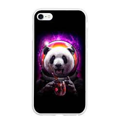 Чехол iPhone 6/6S Plus матовый Panda Cosmonaut цвета 3D-белый — фото 1