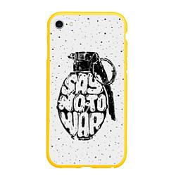Чехол iPhone 6/6S Plus матовый Say no to War цвета 3D-желтый — фото 1