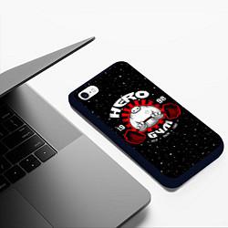 Чехол iPhone 6/6S Plus матовый Hero Gym цвета 3D-черный — фото 2
