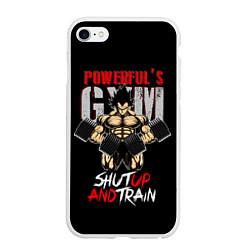 Чехол iPhone 6/6S Plus матовый Powerful Gym цвета 3D-белый — фото 1